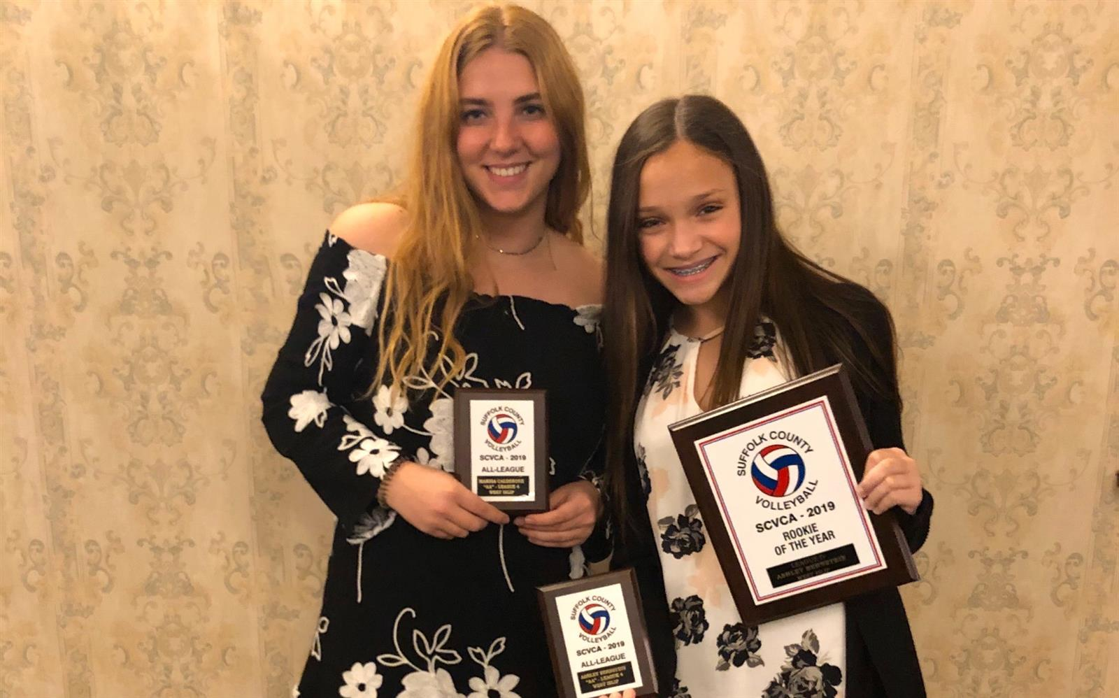 Bernstein and Calderone Receive Volleyball Honors