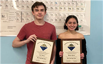 Pair of Excellent Juniors Earn Chemistry Awards photo