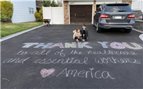Chalk Message of Support from Bayview First Grader thumbnail168916