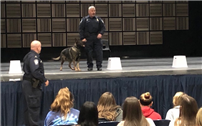 Careers and Canines Discussed as Homeland Security Visits HS Law Classes
