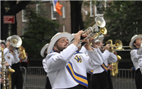 Proud Lions March in Columbus Day Parade thumbnail102588