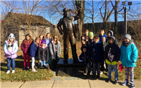Bellew Third-Graders Visit Walt Whitman's Birthplace